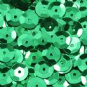 Sequins, green, Diameter 6mm, 810 pieces, 10g, Faceted Discs, Sequins are shiny, [CZP198]